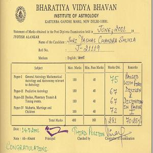 bhartiya vidhya bhawan astrology